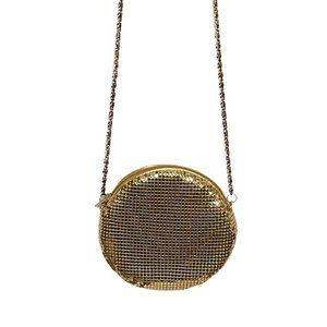 VTG Amanda Smith Gold Mesh Crossbody Evening Bag